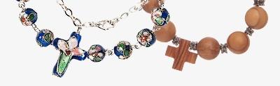 Single decade rosary bracelets