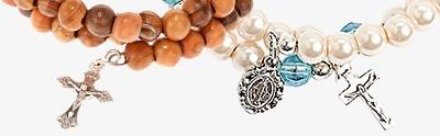 Spring rosary bracelets