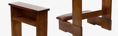 Ambos, kneelers, church furniture
