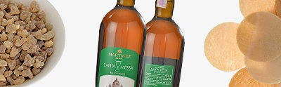 Vin, hosties, encens, huile de paraffine
