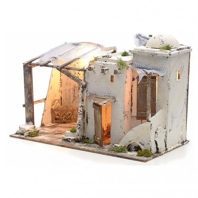 casa palestinese illuminata per presepe napoletano 10 cm ebay. Black Bedroom Furniture Sets. Home Design Ideas