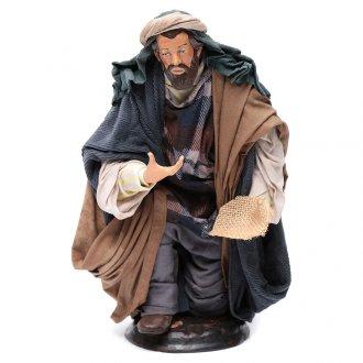 Neapolitan Nativity figurine, beggar, 30cm