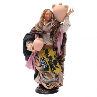 Donna con brocca 30 cm presepe napoletano