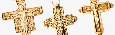 Ceramic cross pendants