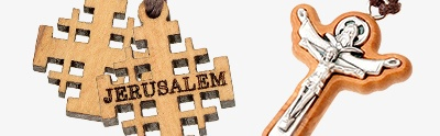 Wooden cross pendants