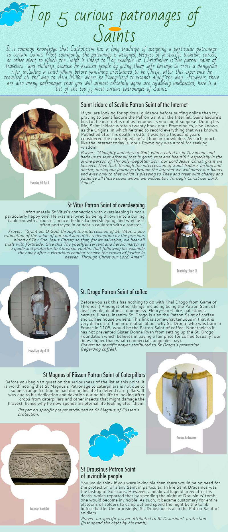 Top 5 curious patronages of saints